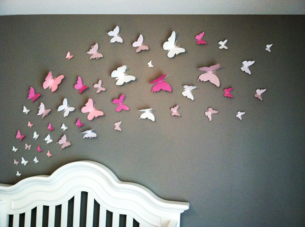 Image of: butterfly wall decorations