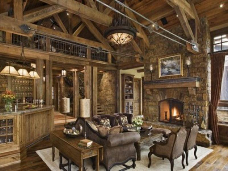 Rustic Log Cabin Decorating Ideas Icmt Set Elegant