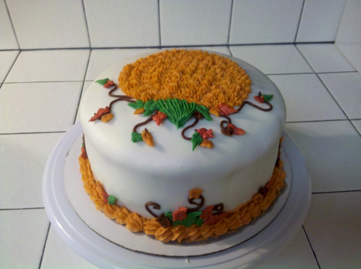 Image of: cake decorating ideas autumn
