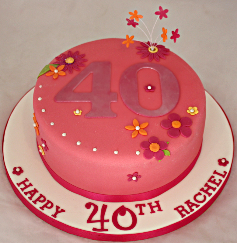 Image of: cake decoration ideas for 40th birthday
