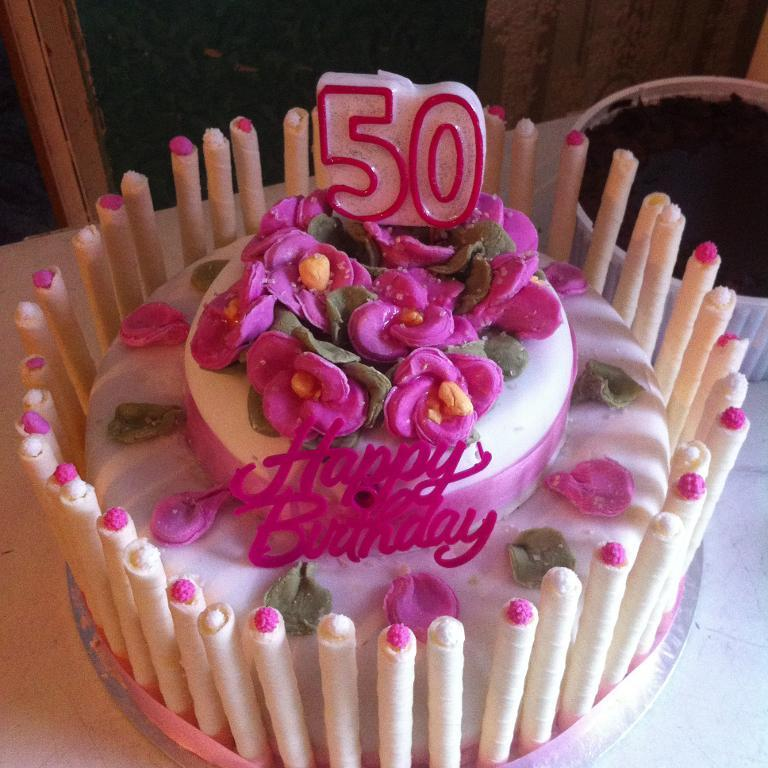 Image of: cake decoration ideas for 50th birthday