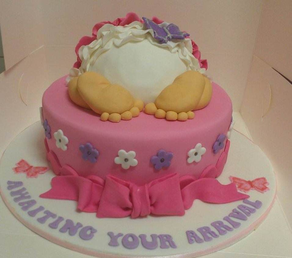 Image of: cake decoration ideas for baby shower