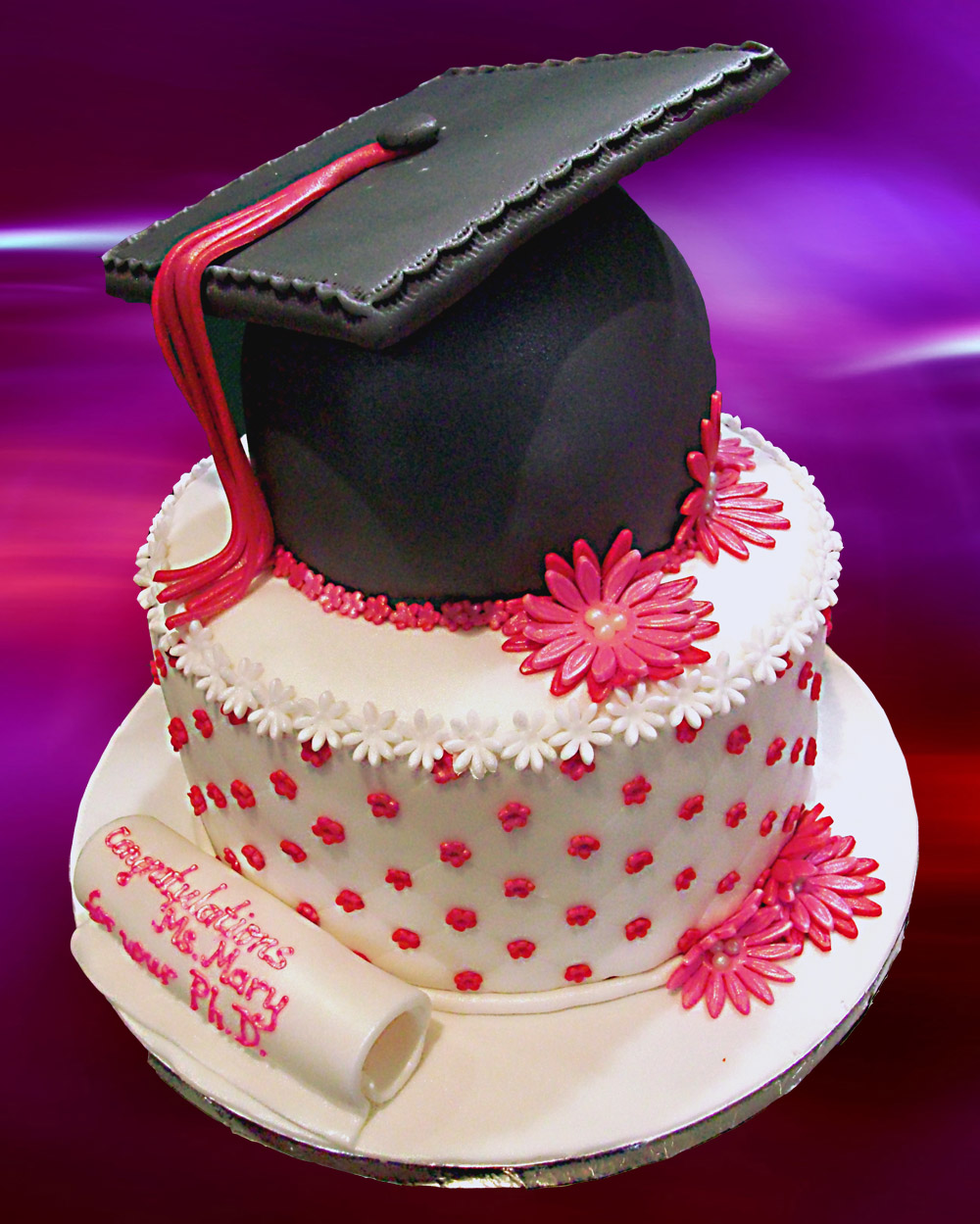 Image of: cake decoration ideas for graduation