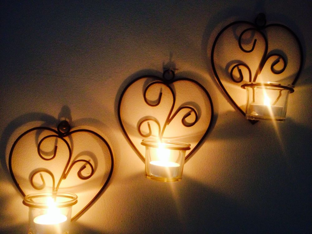 Image of: candle holder wall decor