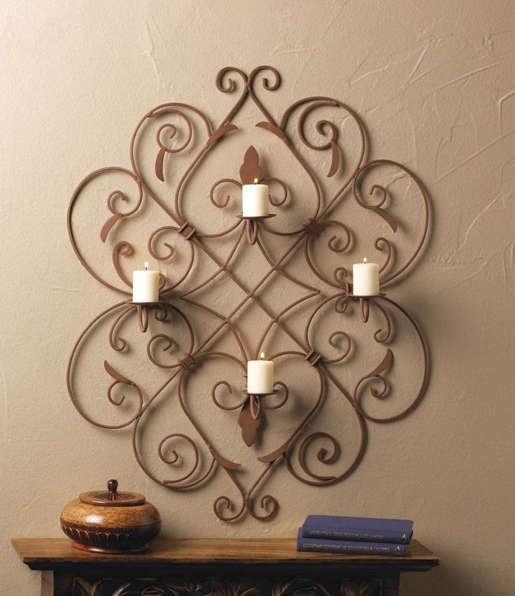 Image of: candle holders wall decor