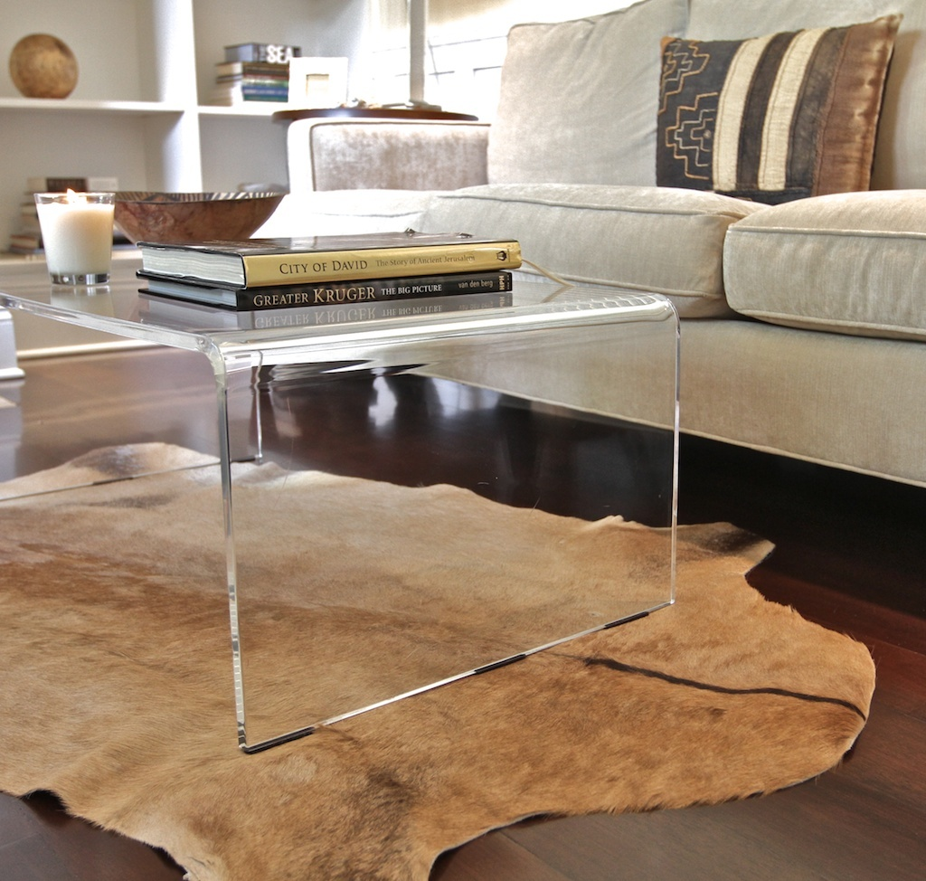 Image of: clear acrylic coffee table