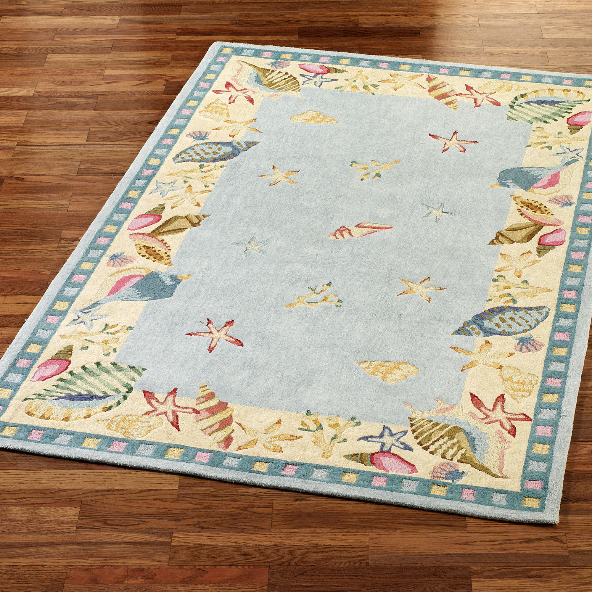 Image of: coastal decor area rugs