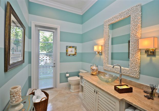 Image of: coastal decor bathroom