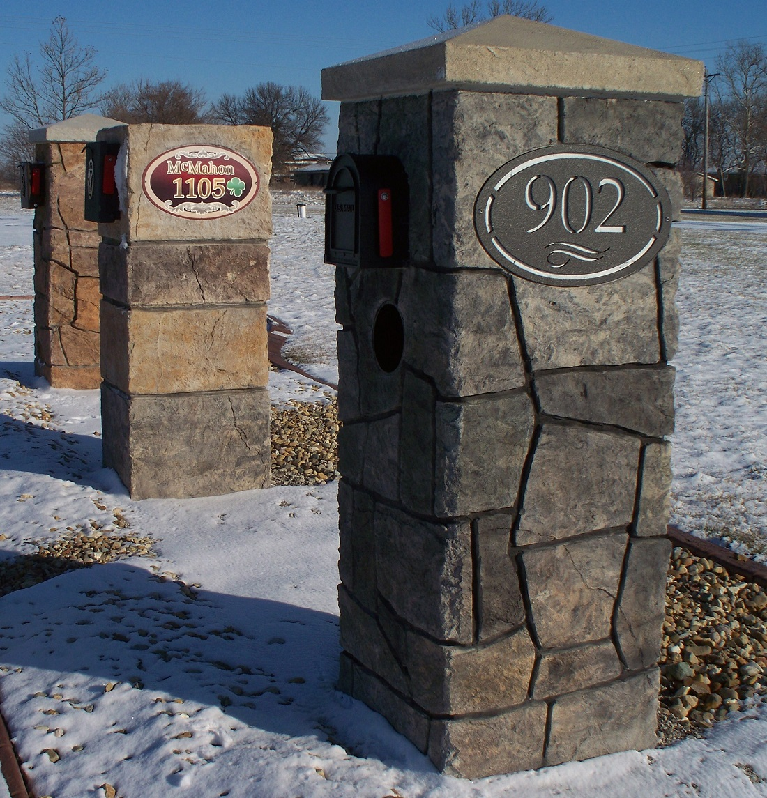 Image of: concrete mailbox designs