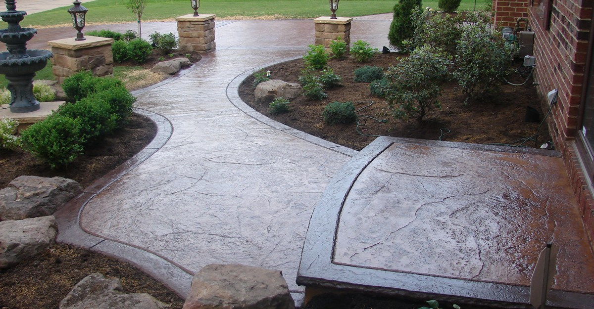 Image of: concrete patio colors and designs