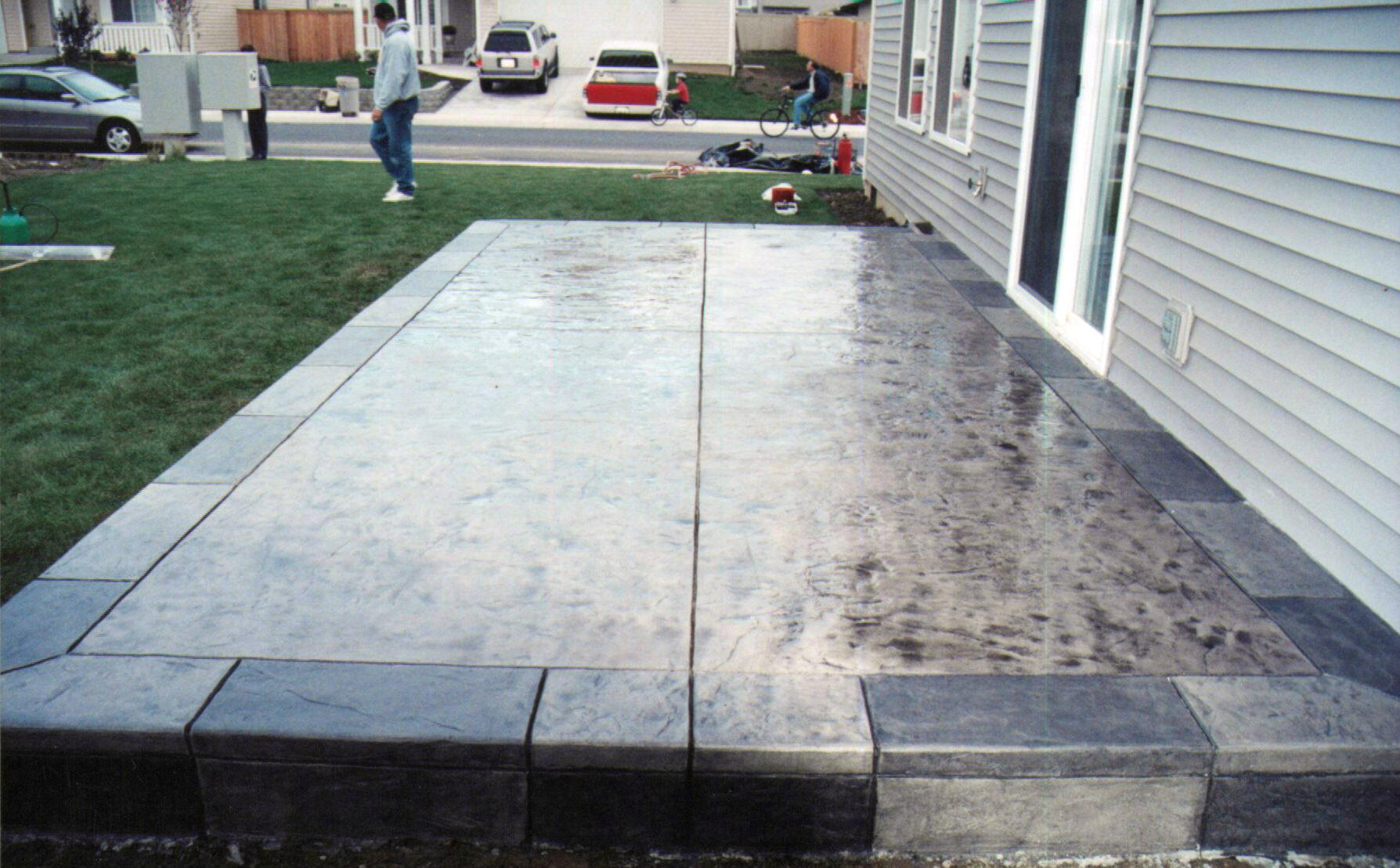 Image of: concrete patio design