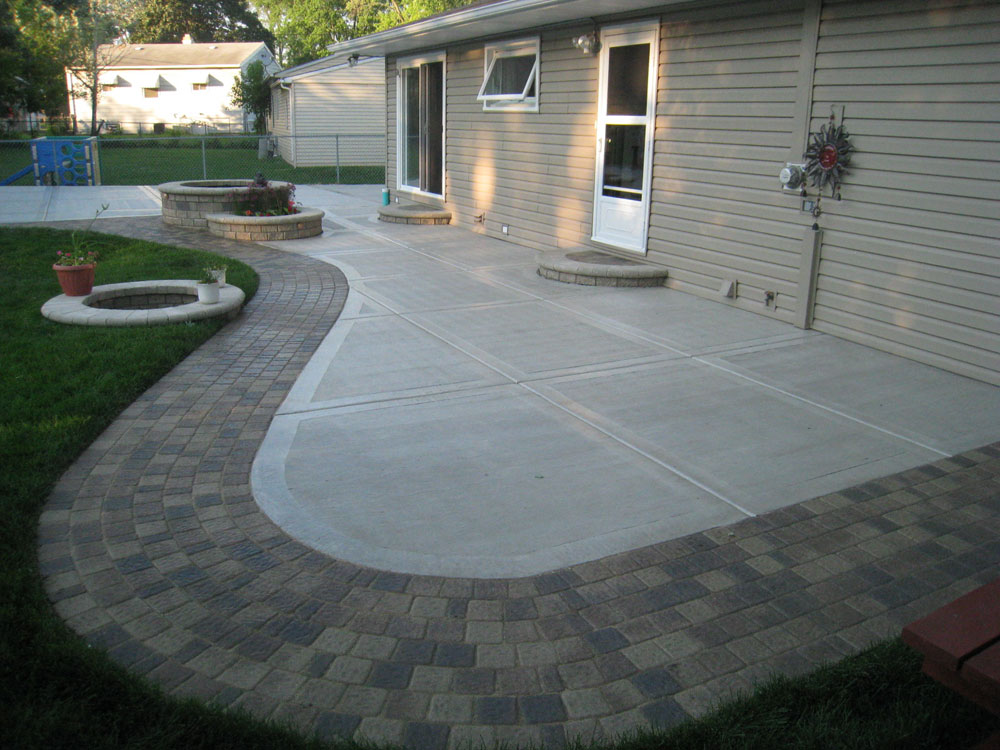 Image of: concrete patio ideas and pictures