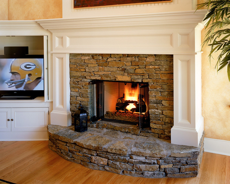 contemporary brick fireplace designs