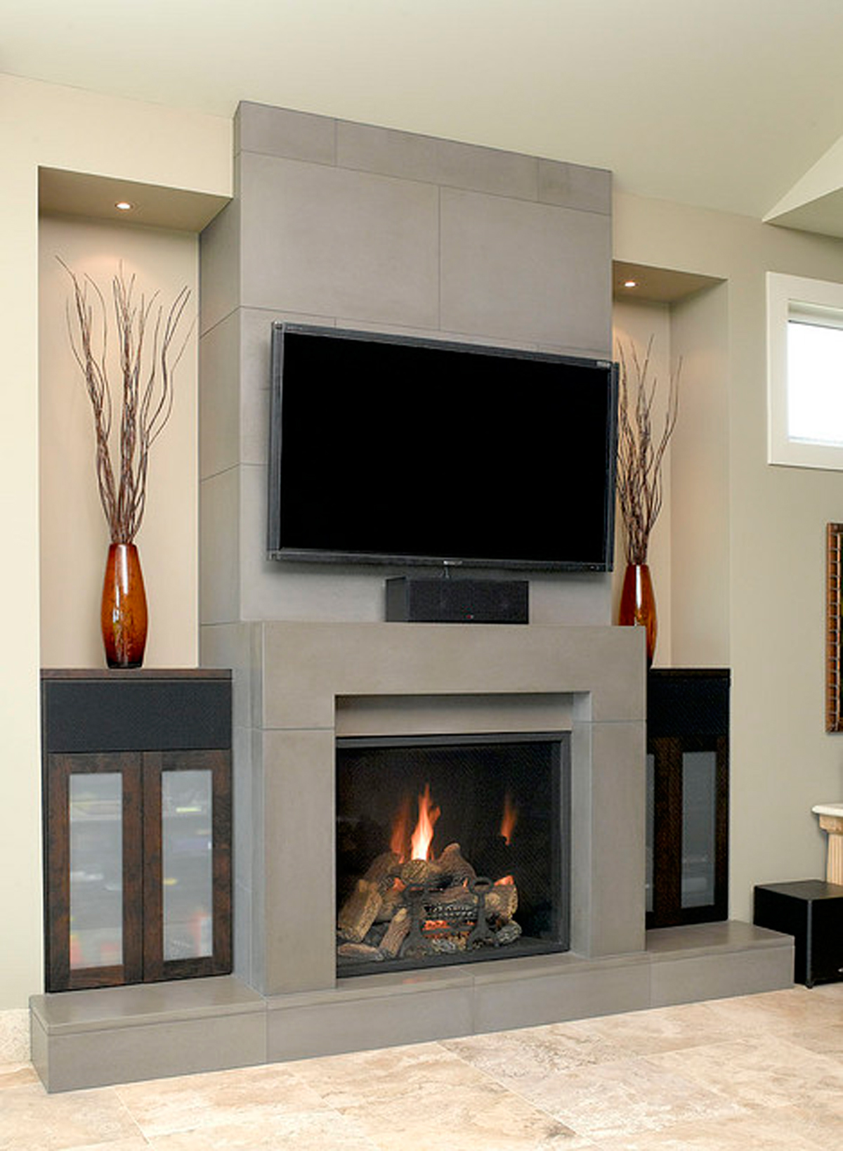 Image of: contemporary fireplace design ideas