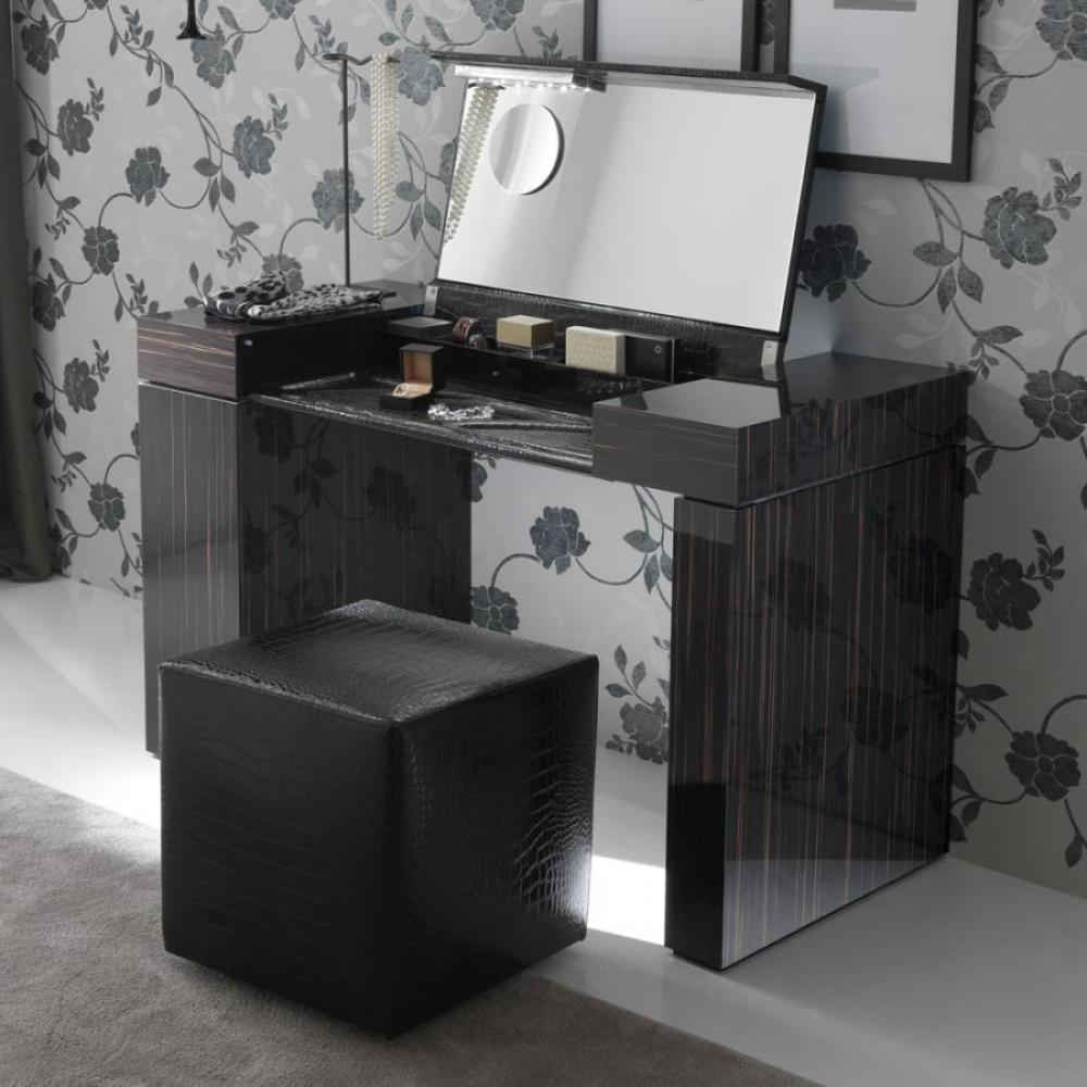 Image of: corner dressing table black