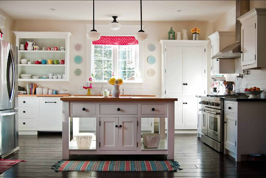 Image of: country kitchen decorating themes