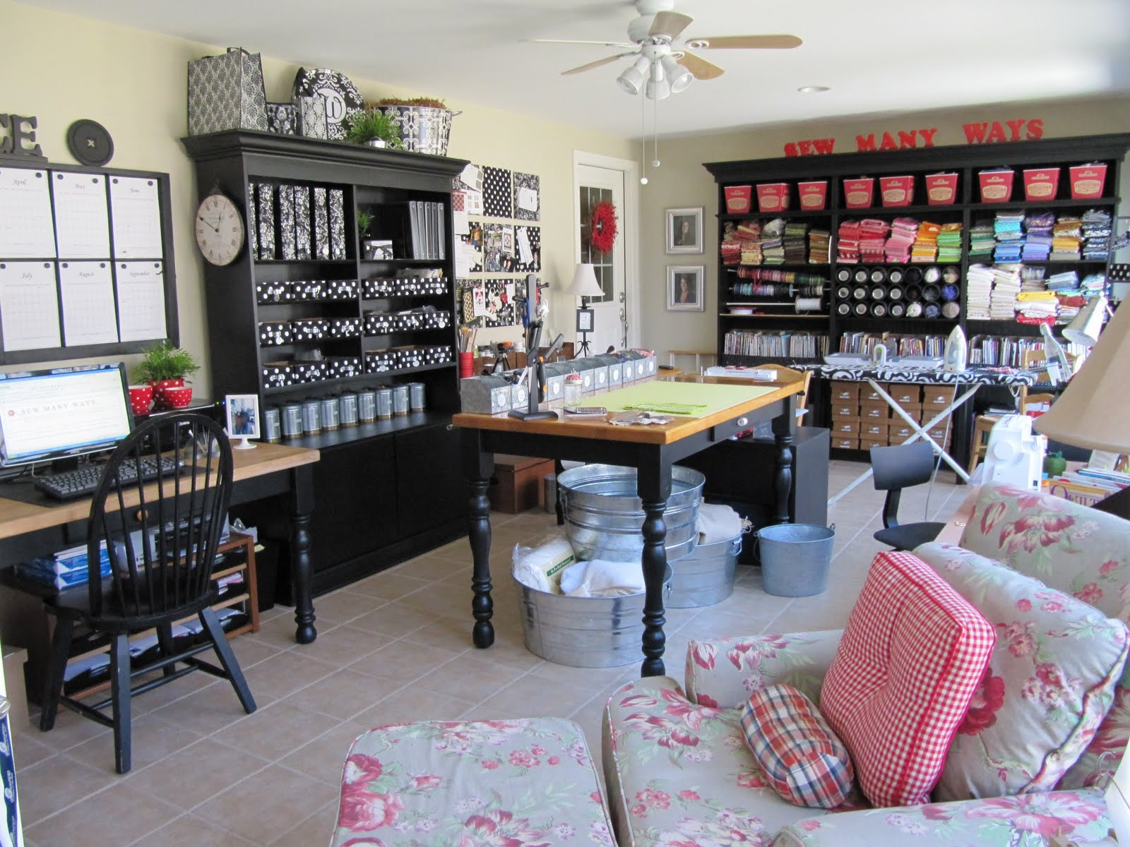 Image of: craft and sewing room designs