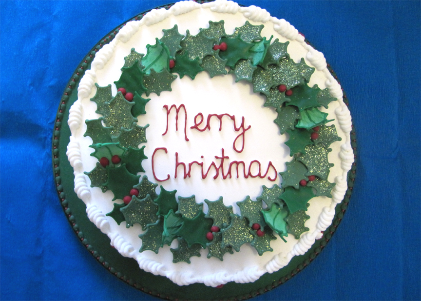 Image of: decorated cakes christmas