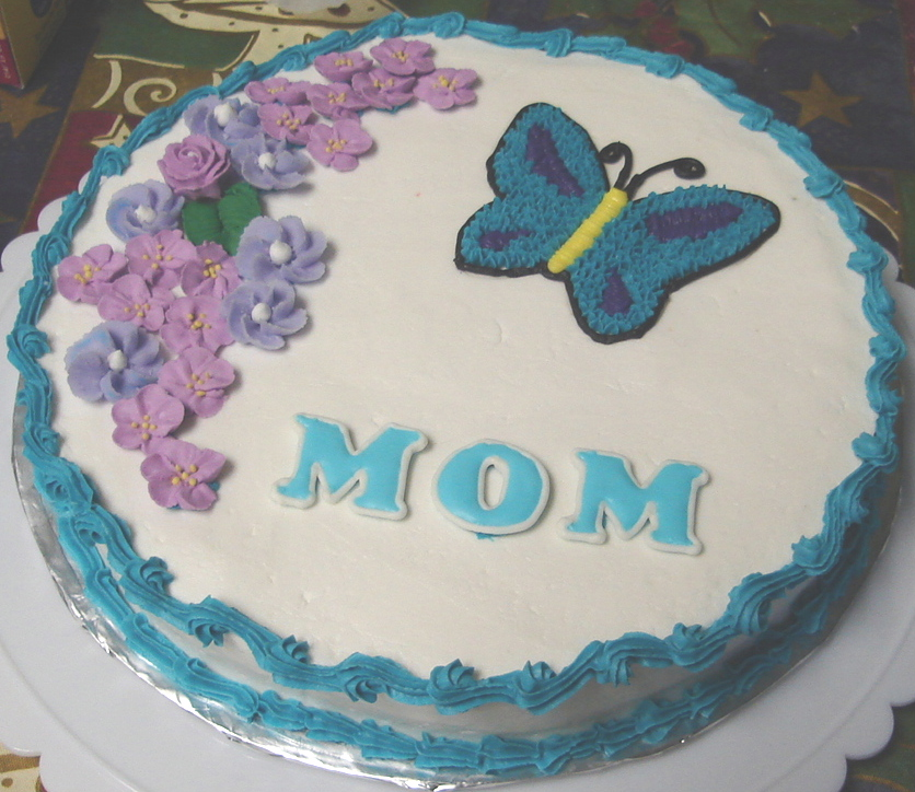 Image of: decorated cakes for mom