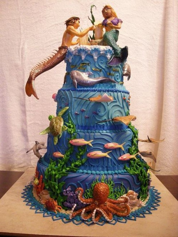 Image of: decorated cakes mermaid
