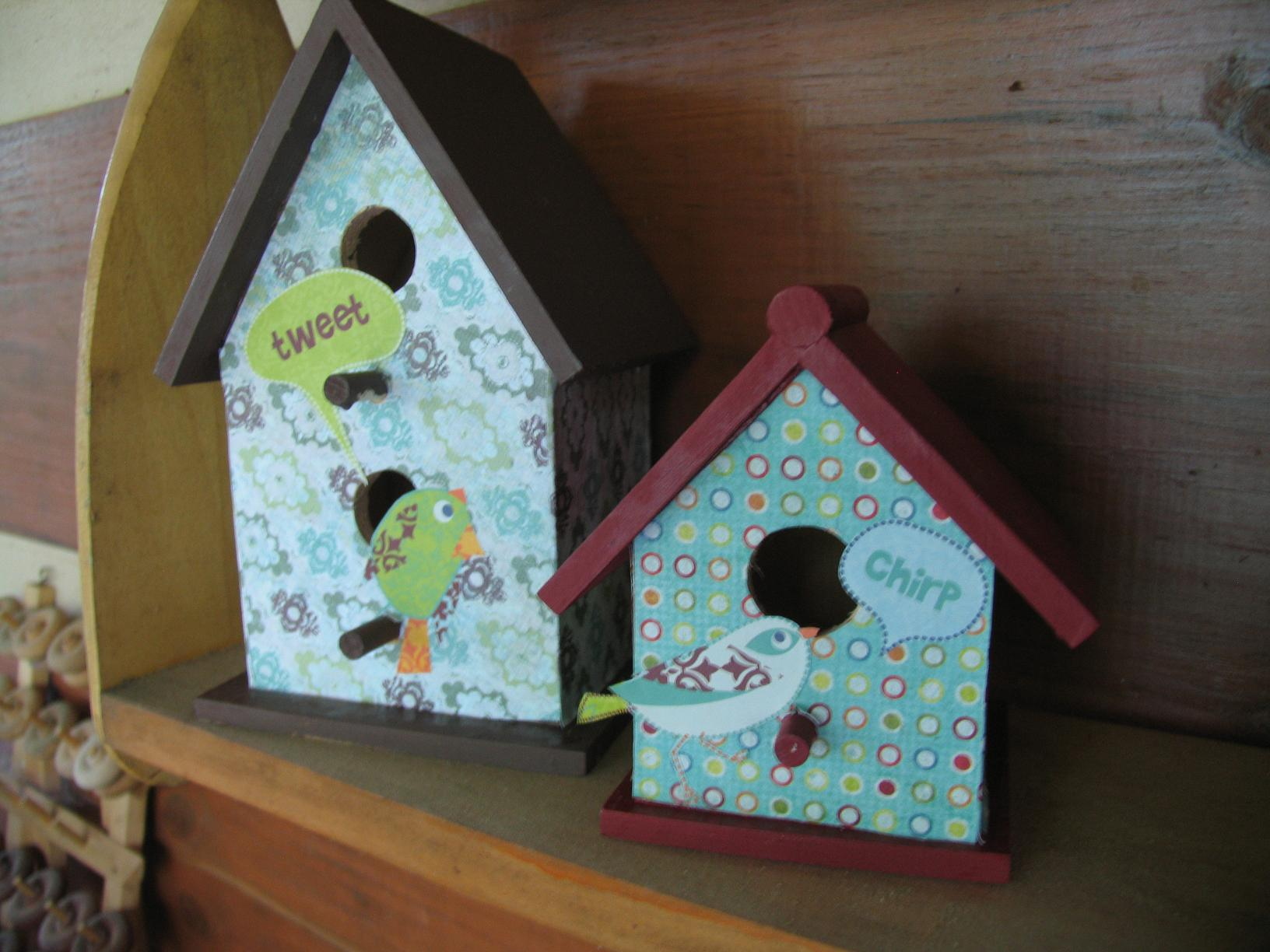 Image of: decorating bird houses