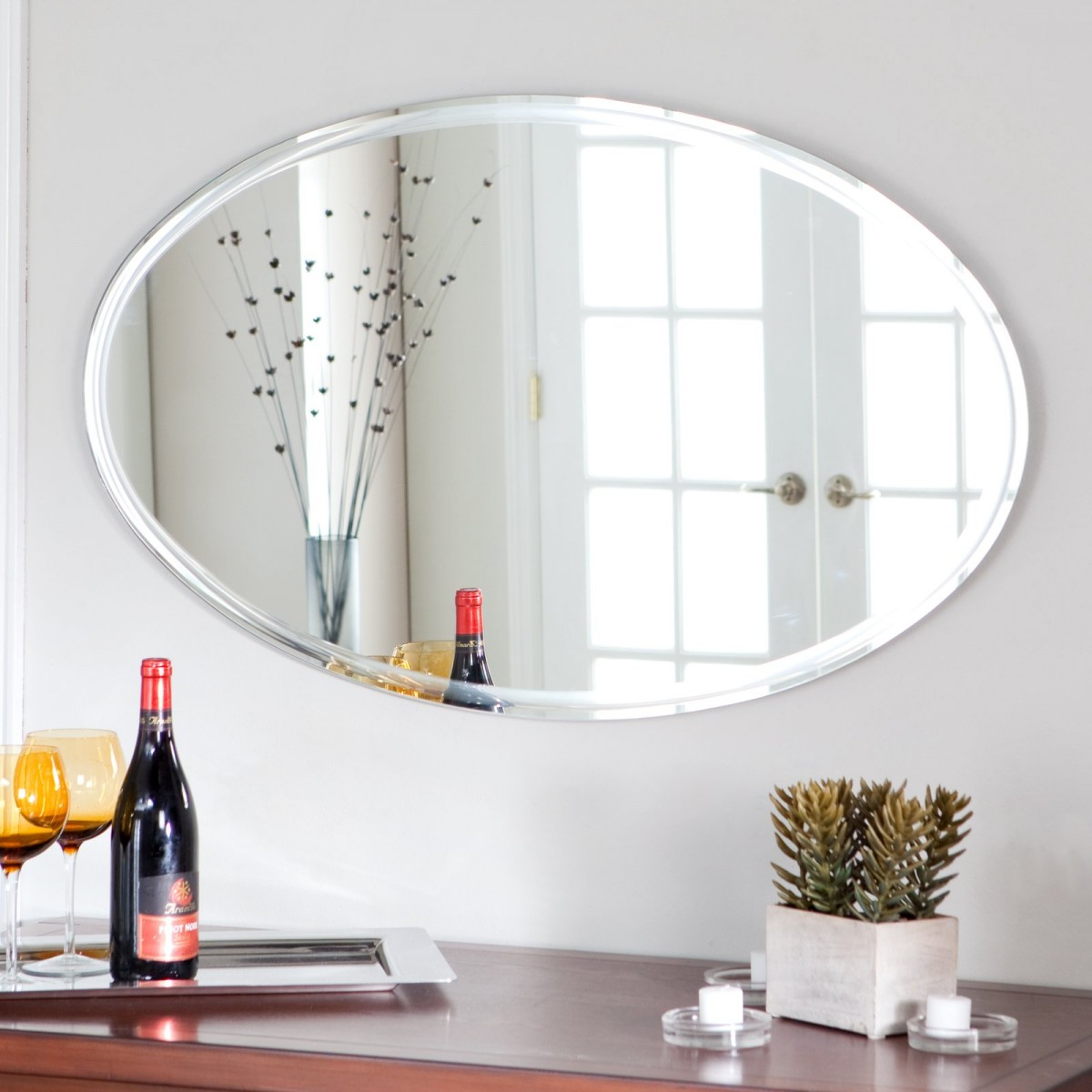 Image of: decorative large wall mirrors