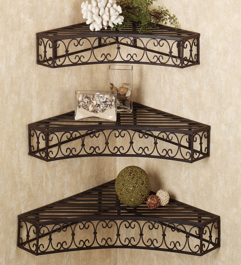 Image of: decorative metal shelves