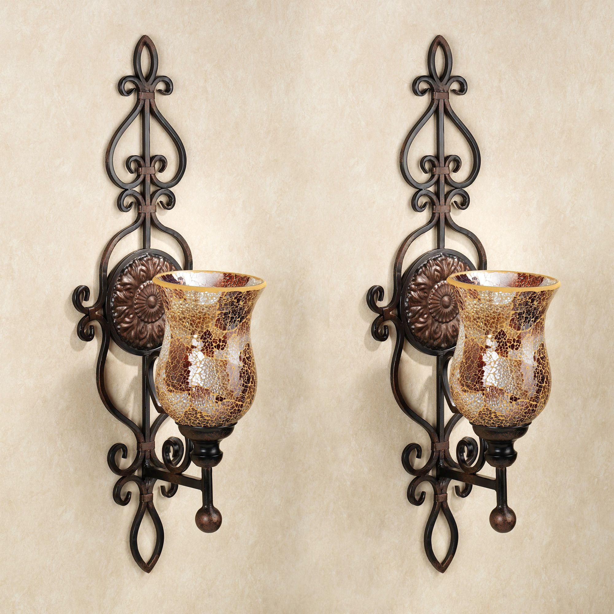 Image of: decorative wall candle holders