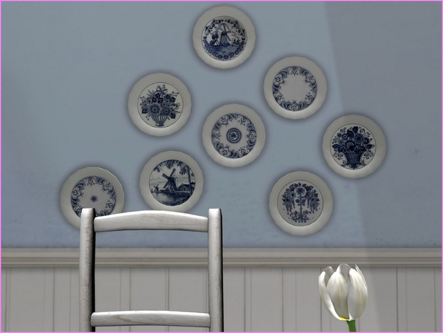 Image of: decorative wall plates for hanging