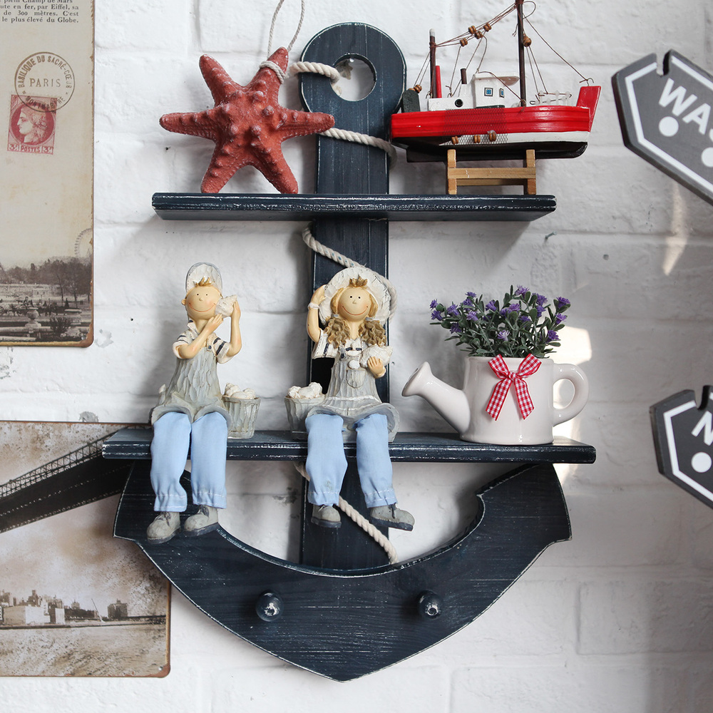Image of: decorative wooden anchor wall decor