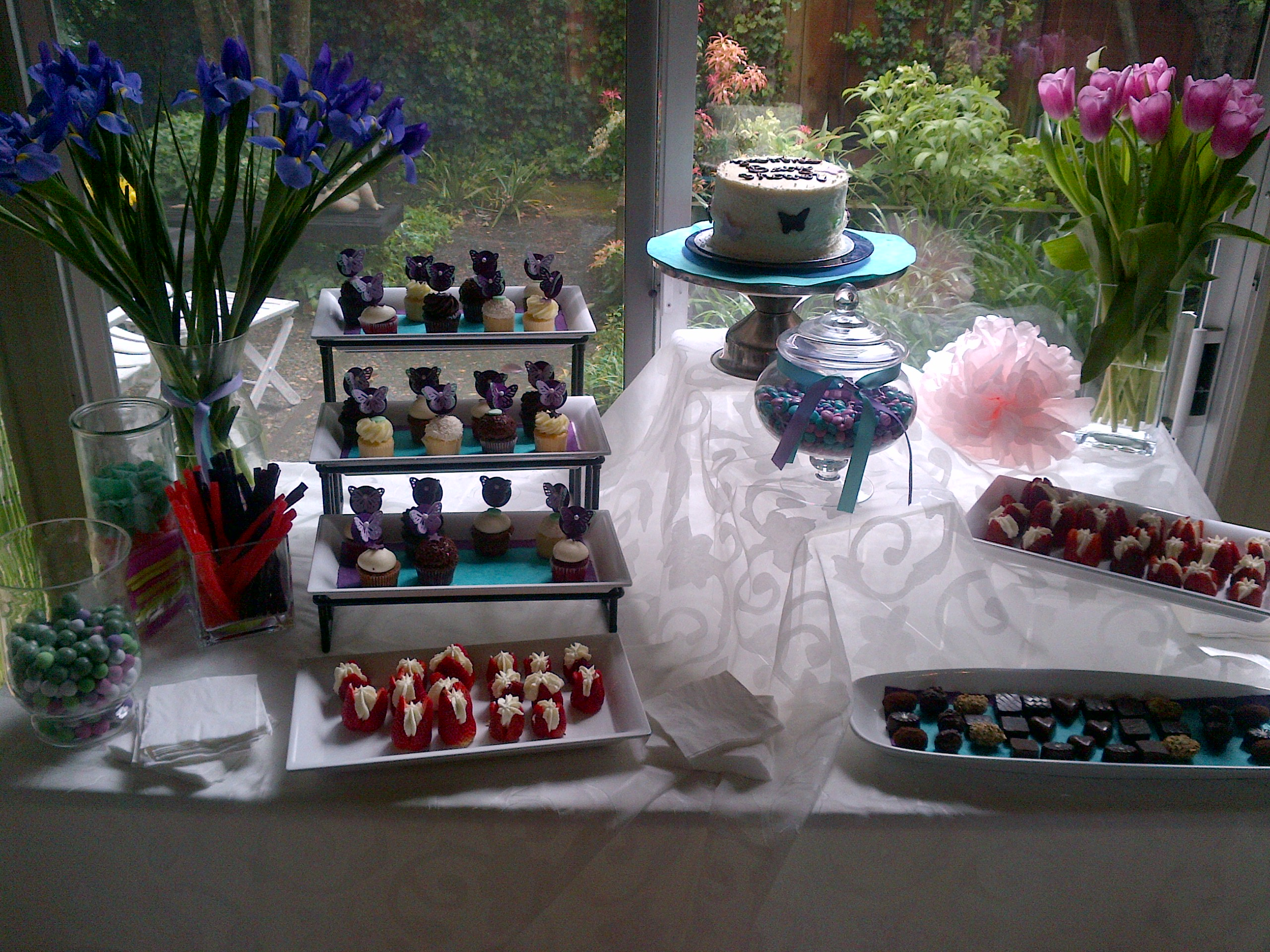 Image of: dessert table for baby shower