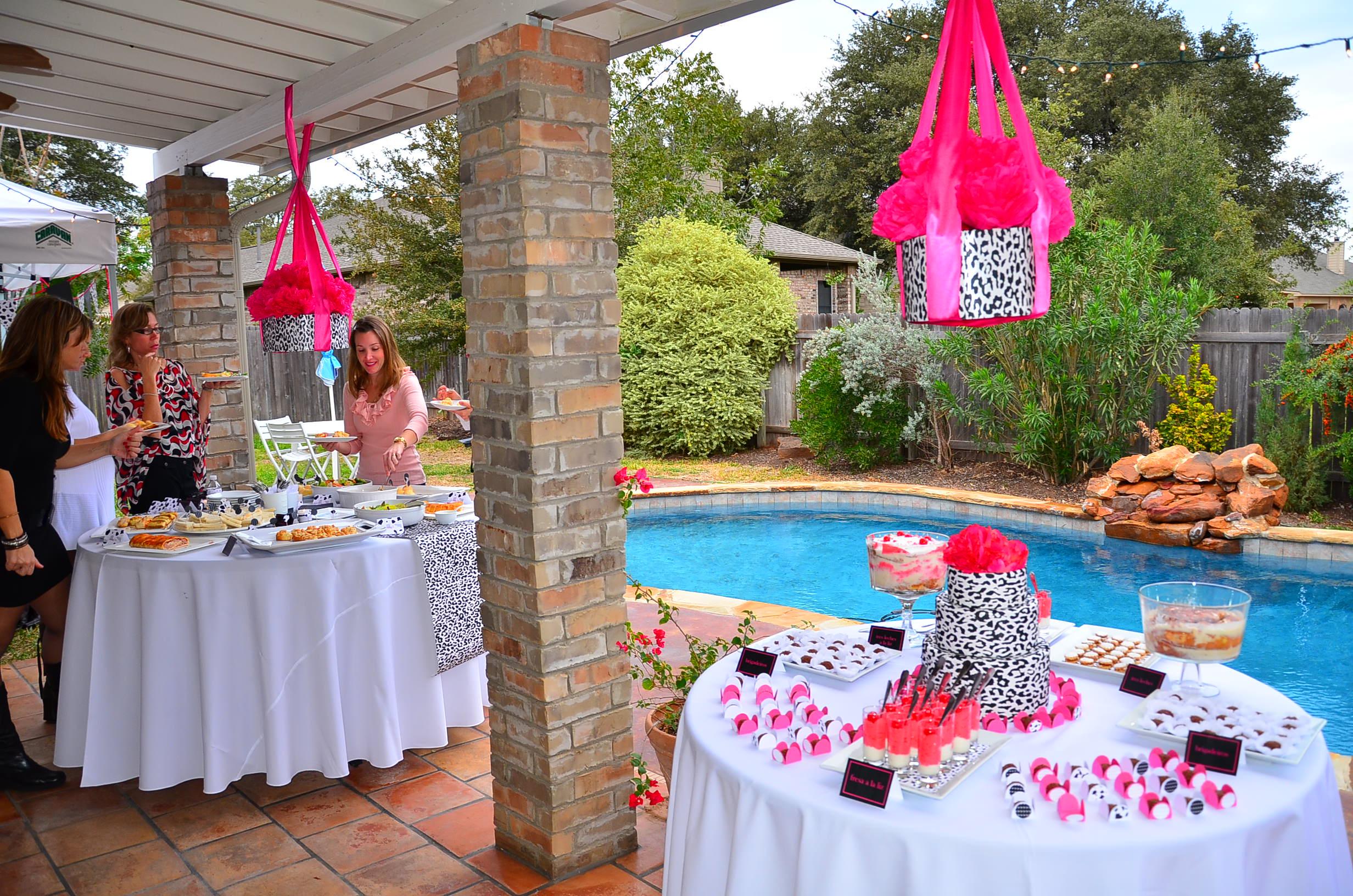 Image of: diy dessert table baby shower