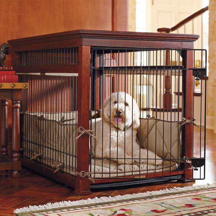 Image of: dog crate table