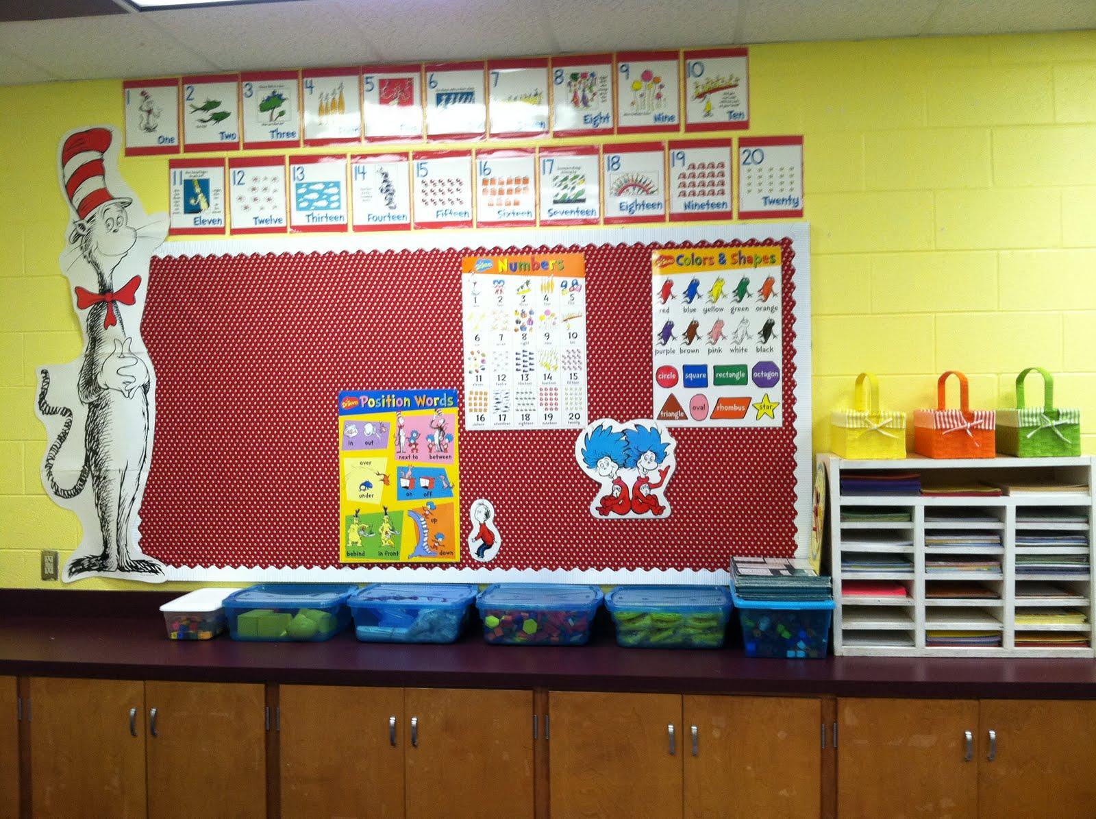 Image of: dr seuss classroom decor