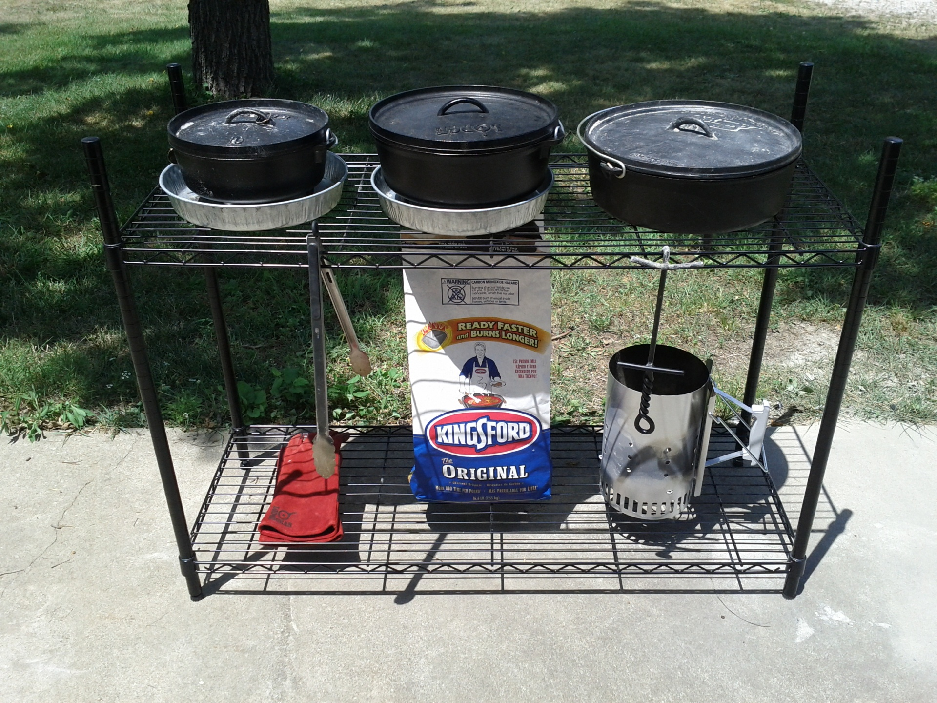 dutch oven cooking table plans