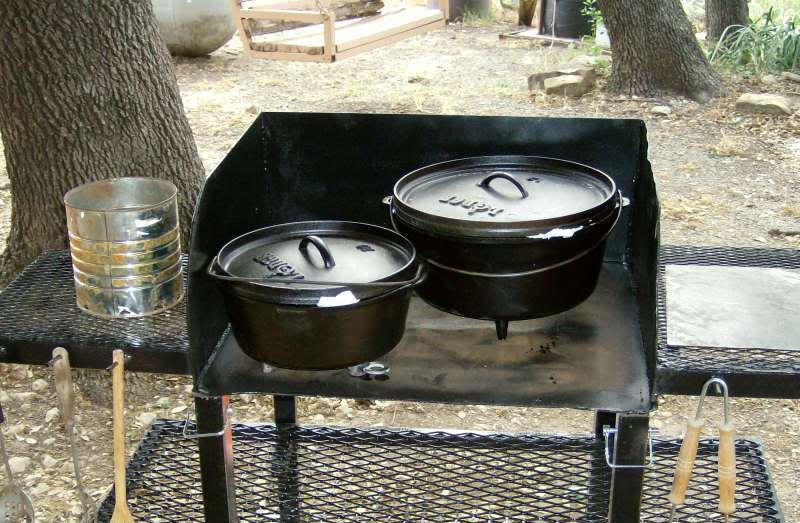 Image of: dutch oven table