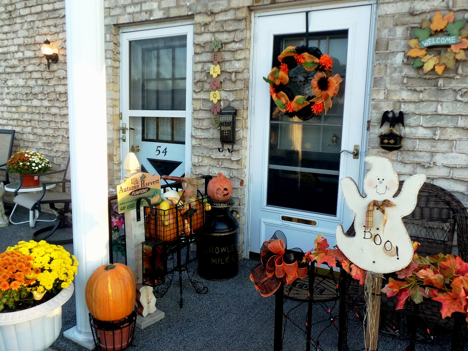 Image of: fall decorating ideas for front porch