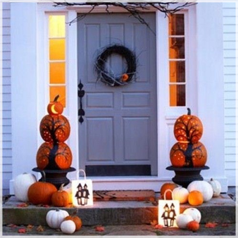 Image of: fall porch decorating ideas