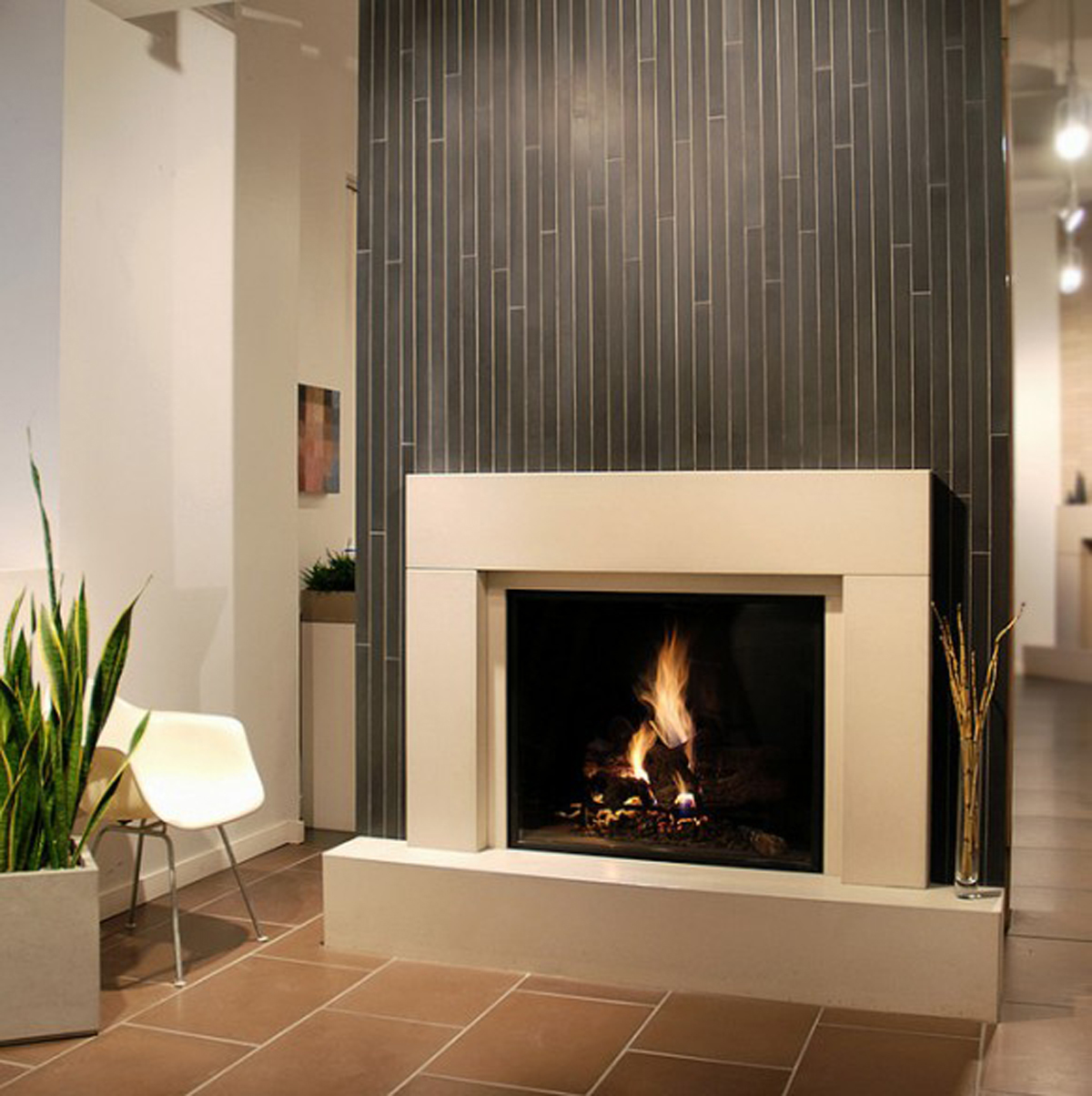 Image of: fireplace designs contemporary