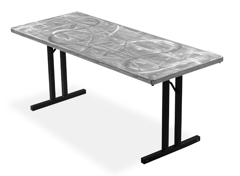 Image of: folding aluminum table
