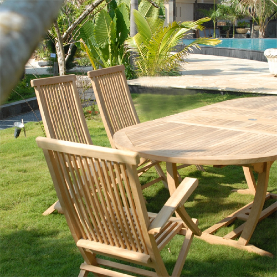 Image of: folding wood patio table