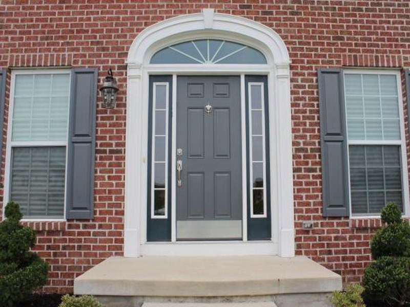 Image of: front door color ideas brick house