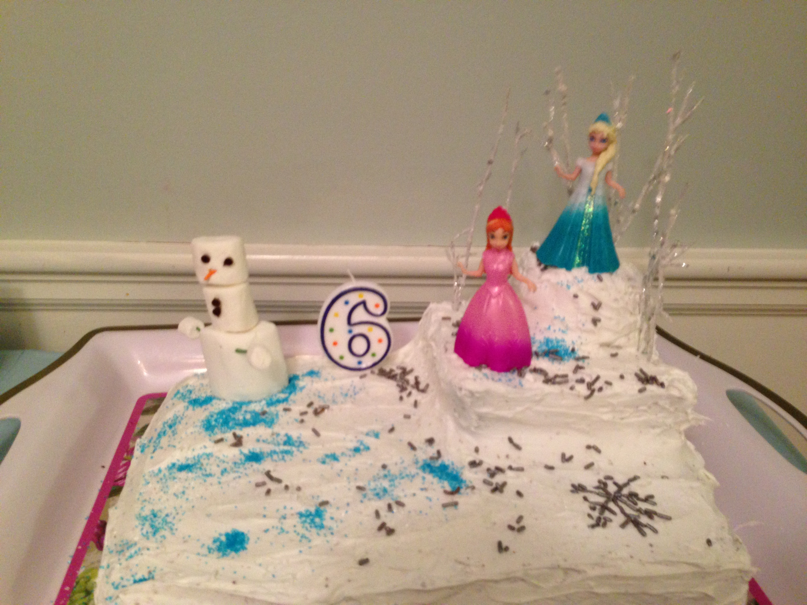 Image of: frozen cake decorations
