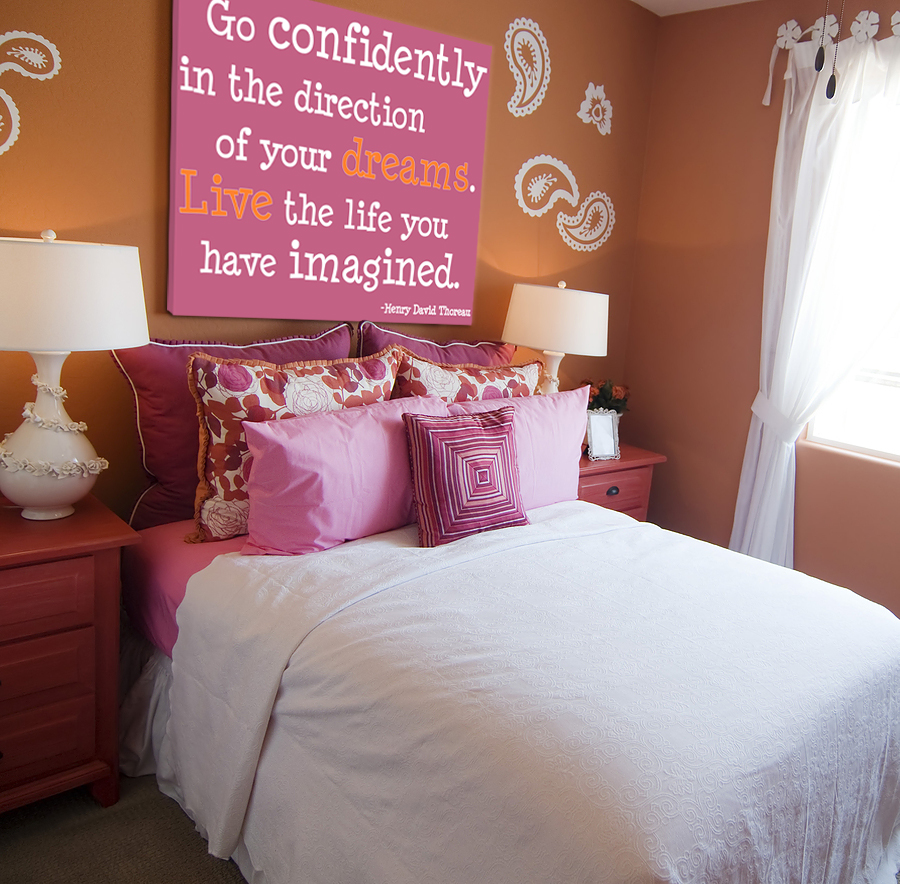 Image of: girls bedroom wall decor