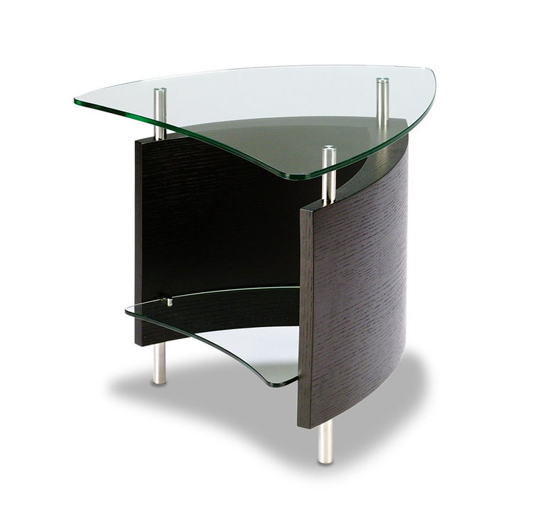 glass corner accent table