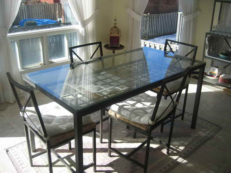 Image of: glass dining table ikea