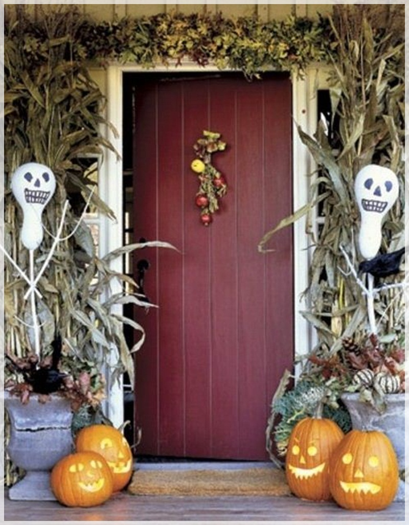 Image of: halloween porch decorations