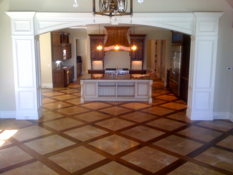Image of: hardwood and tile floor designs