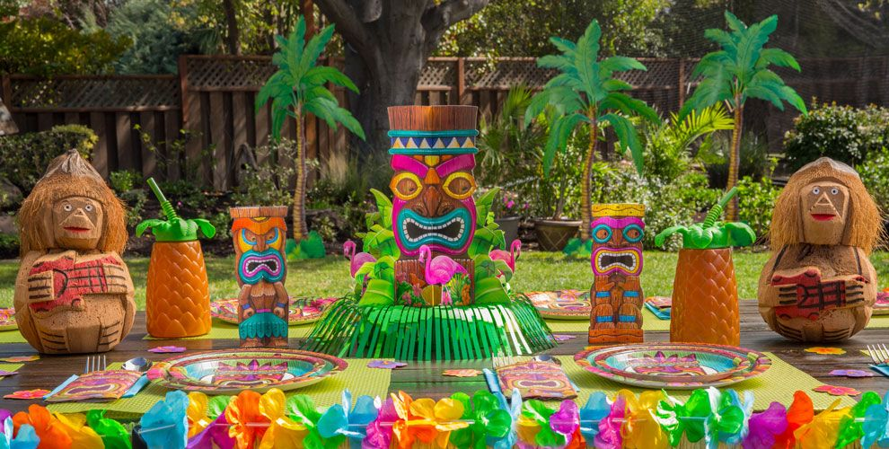 Image of: hawaiian themed decorations