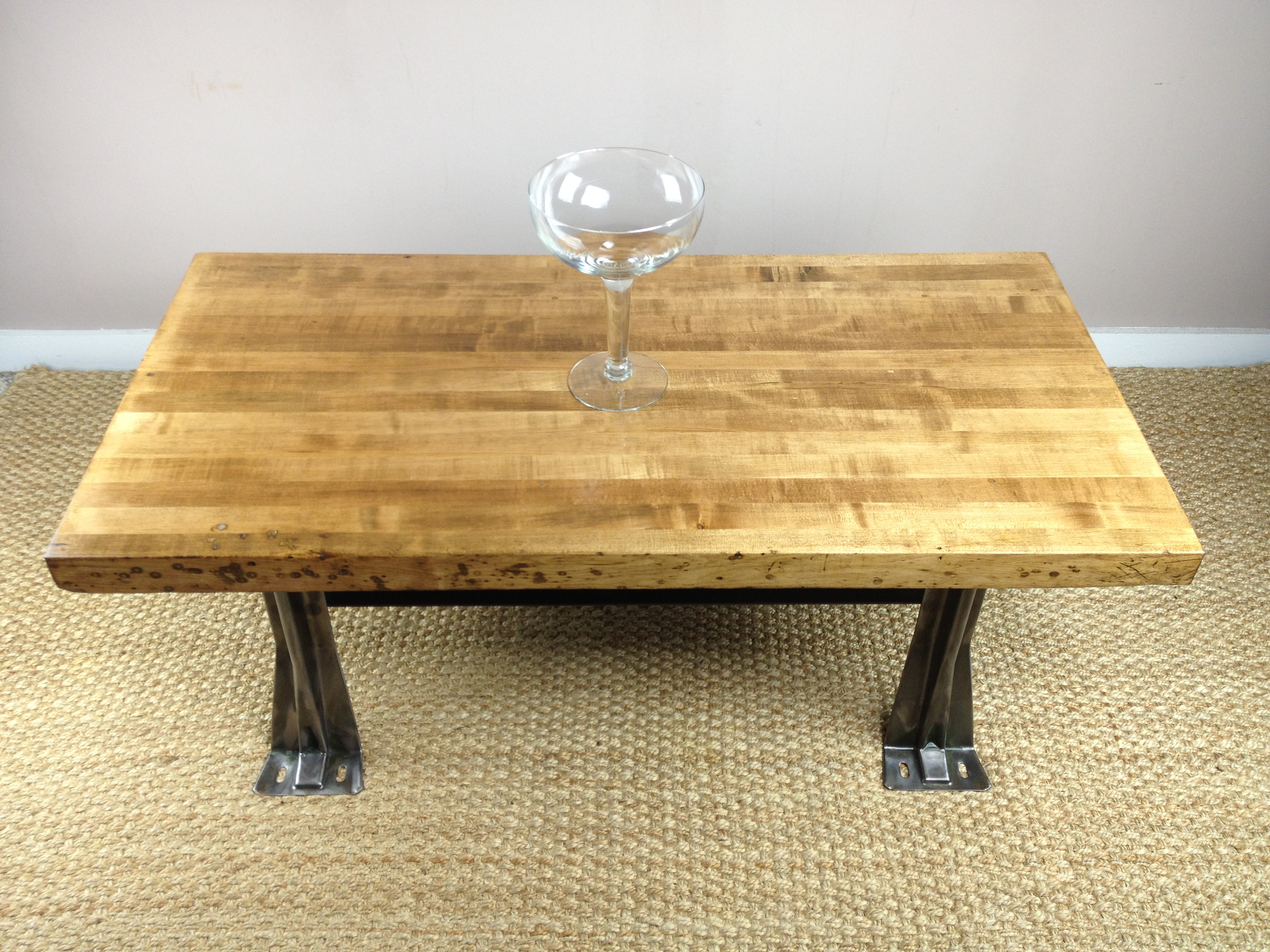 Image of: ikea butcher block coffee table